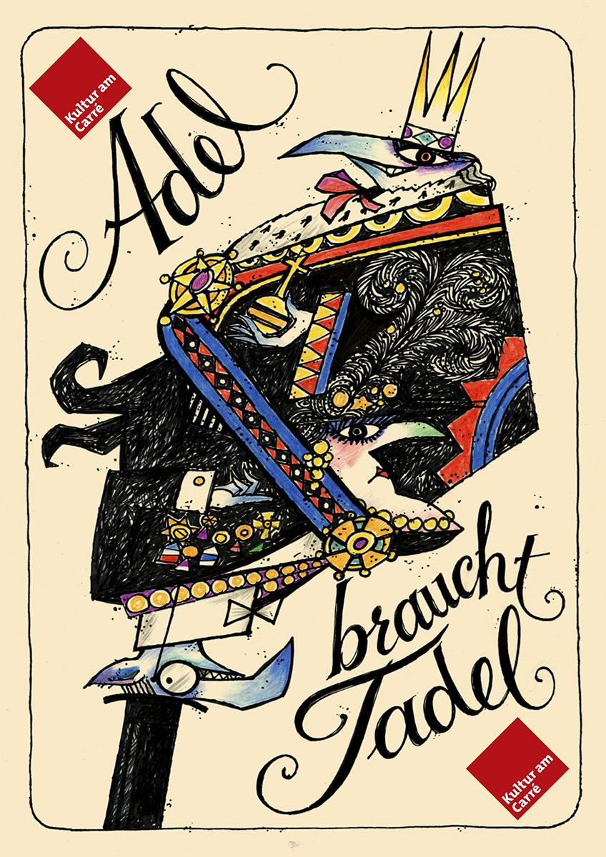 Affiche Adel braucht Tadel Mars Klein 2011 Pit Weyer