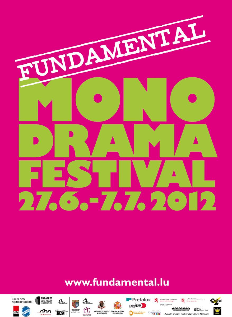 Affiche Fundamental Monodrama 2012 Lex Weyer