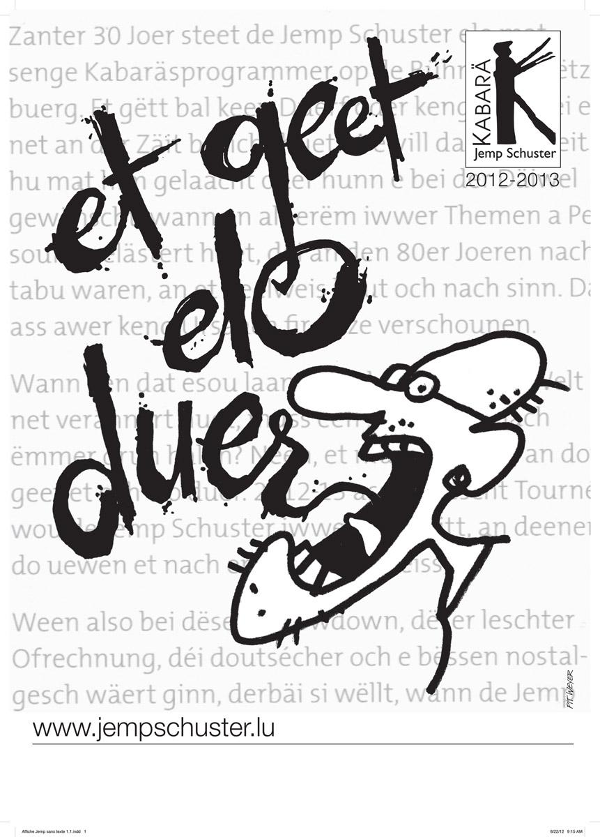 Plakat fir Jemp Schuster Pit Weyer