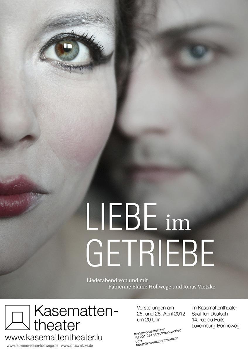 Plakat Liebe im Getriebe Kasemattentheater 2012