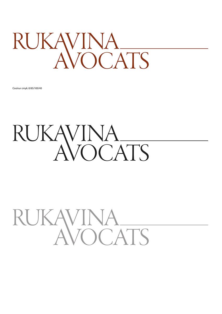 Logo pour l'Etude Rukavina Avocats