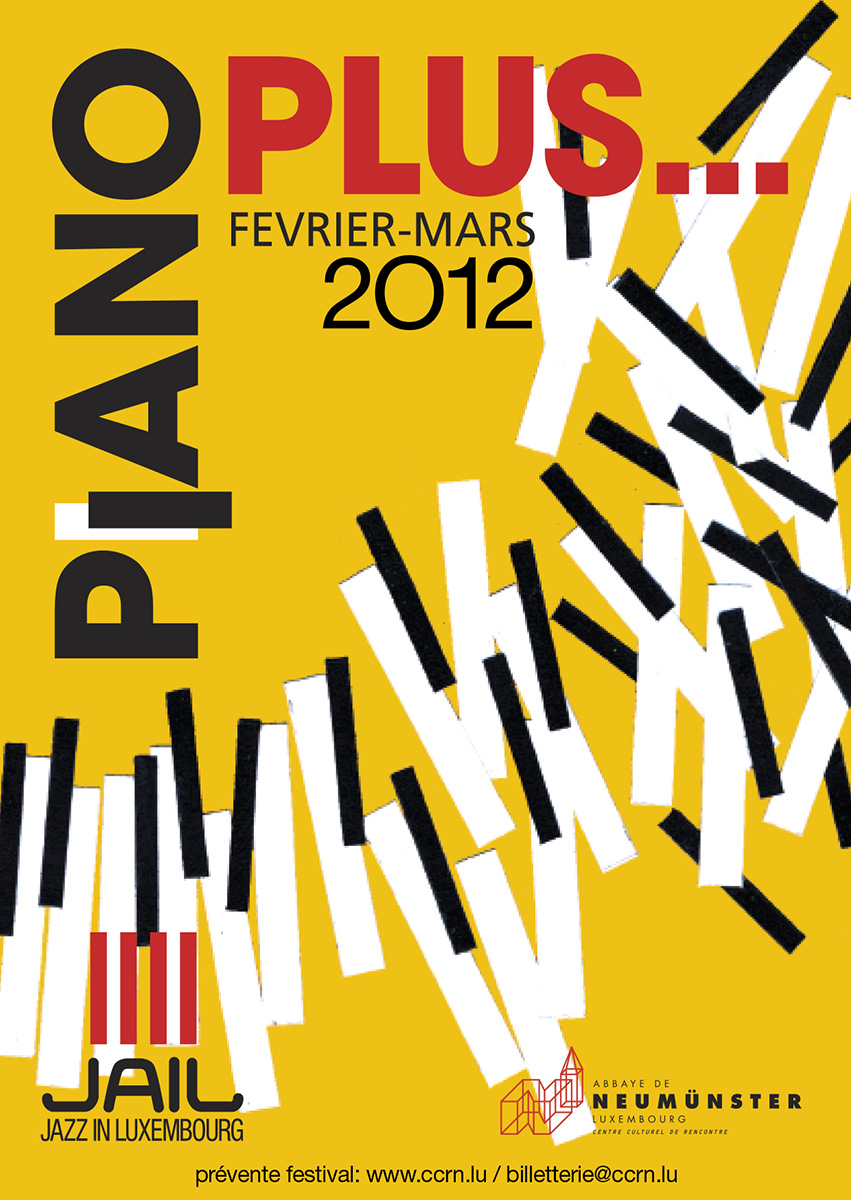 Affiche Piano Plus Festival 2012 Jail Jazz Luxembourg