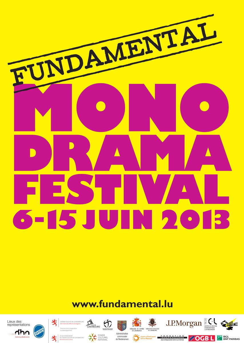 Affiche Monodramafestival 2013