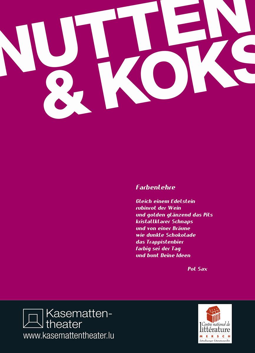 Affiche Kasemattentheater 2013 Nutten und Koks Lex Weyer