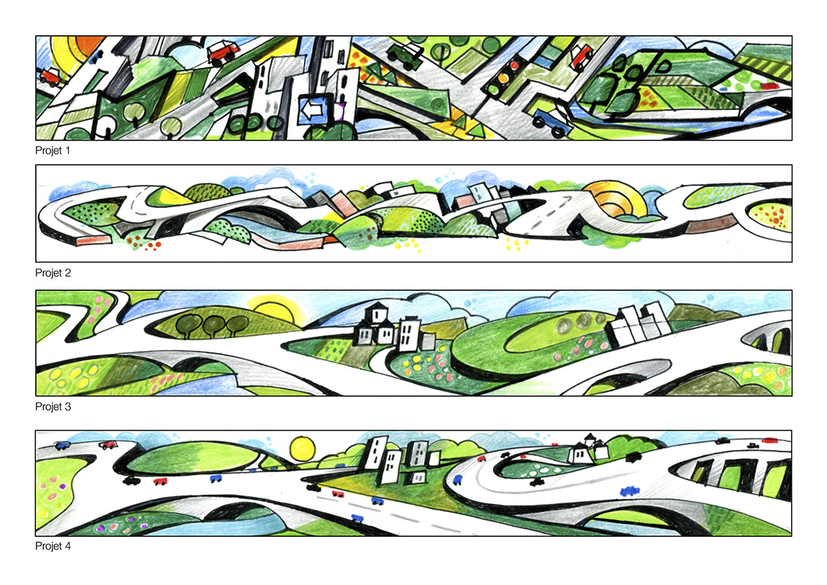 2013 Projets mur Emobility Foire 2013