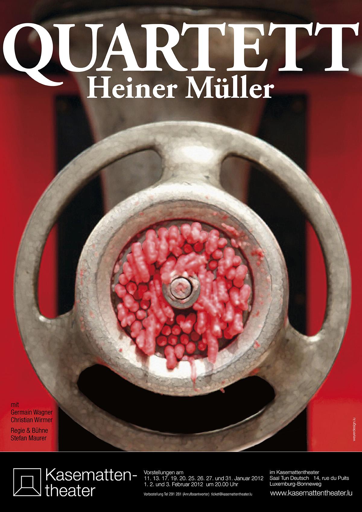 Plakat QUARTETT von Heiner Müller Kasemattentheater 2013 Lex Weyer