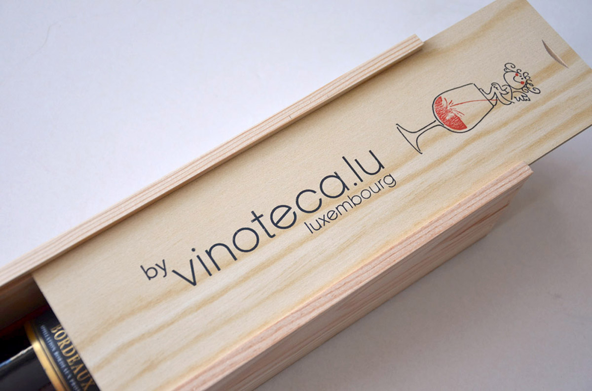 Caisse en bois vinoteca.lu emballages Lex Weyer