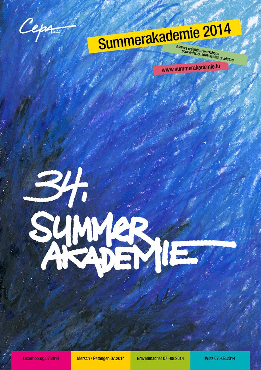 Affiche Plakat Summerakademie 2014 Lex Weyer