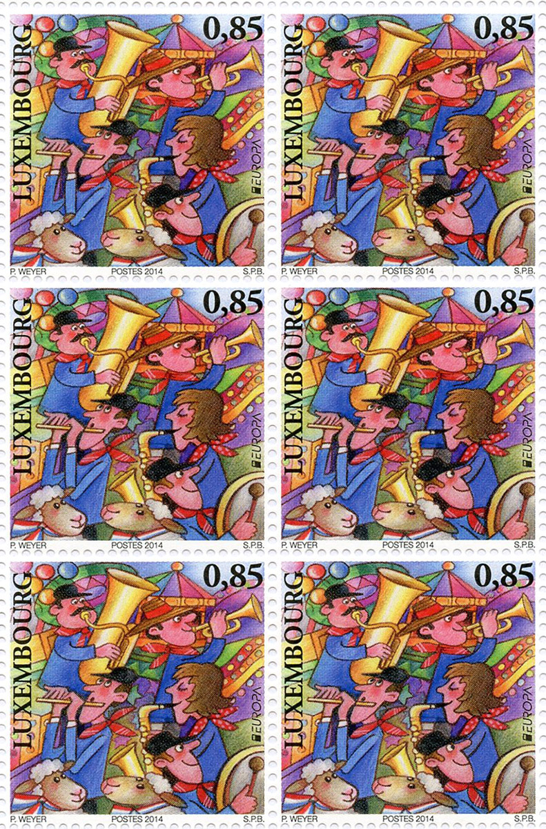 2014 Timbres Europa Luxembourg