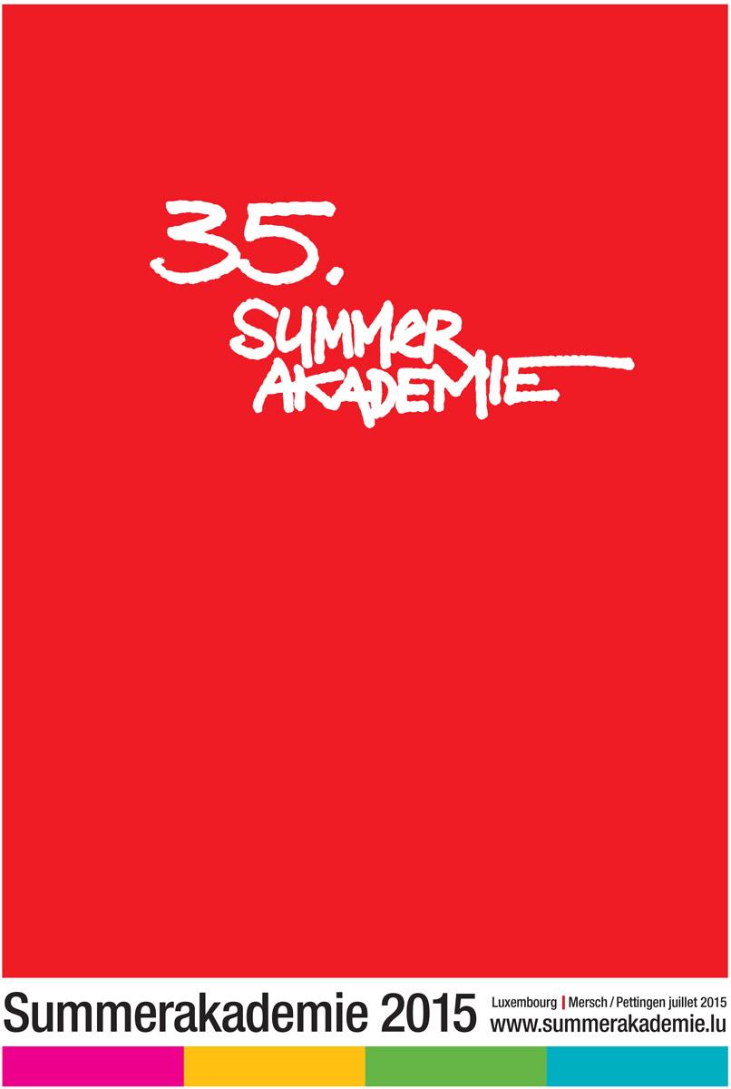 Affiche Summerakademie Cepa asbl 2014 Lex Weyer