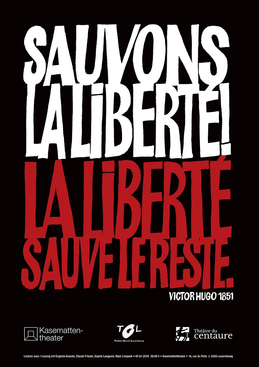 Affiche Lecture Liberté Kasemattentheater 2014 Lex & Pit Weyer