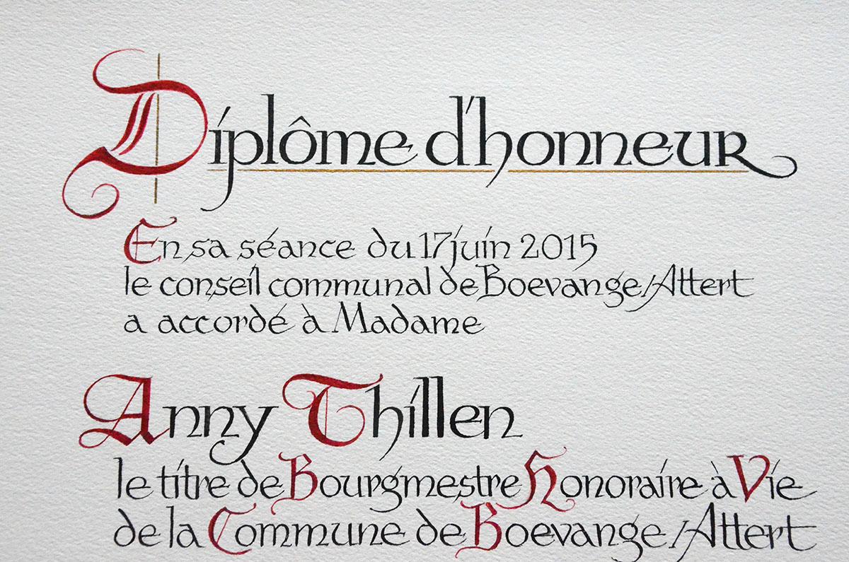 Inscriptions caligraphiques Lex & Pit Weyer