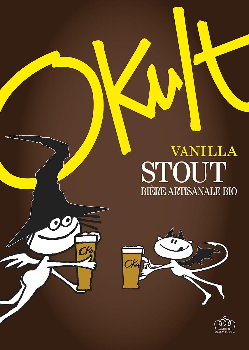 Affiche Plakat Poster OKULT Bières Bier Craftbeer STOUT Lex & Pit Weyer