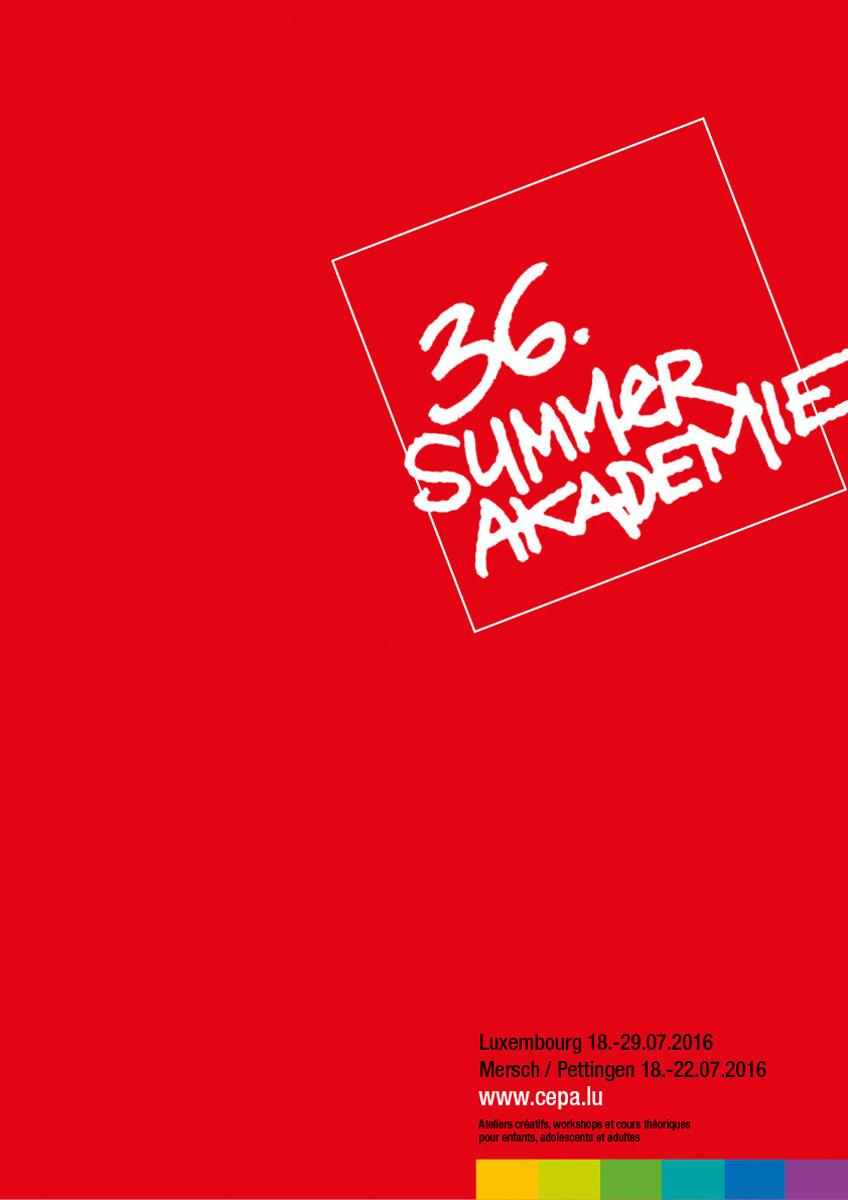Affiche Summerakademie 2016 Cepa asbl Lex Weyer