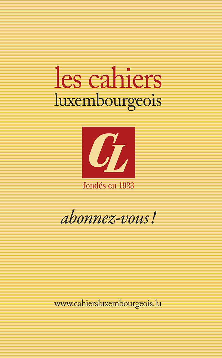 Cahiers Luxembourgeois Logo et mise en page 2016