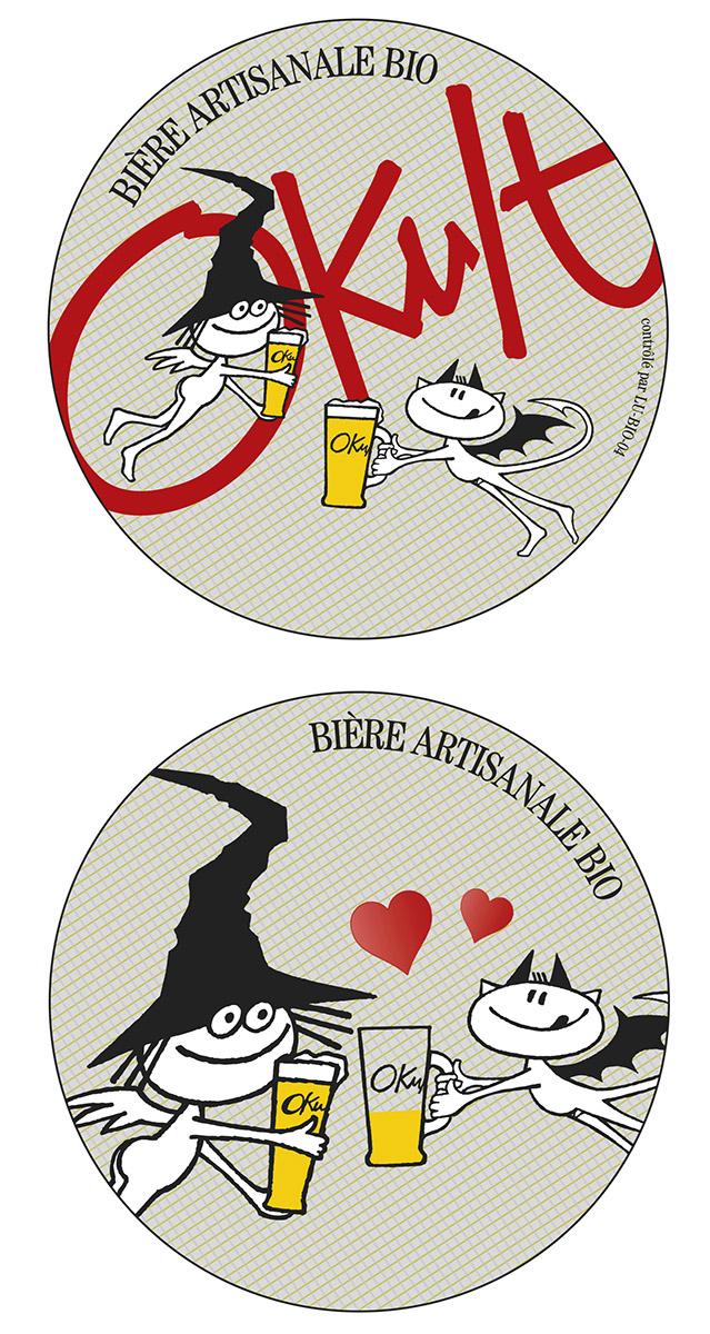 Bierdeckel Sous-bock OKULT Bières Bier Craftbeer Lex & Pit Weyer