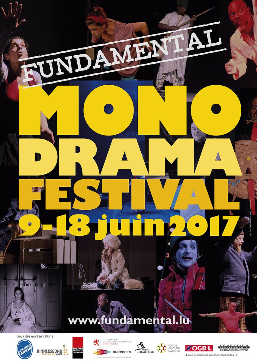 Affiche Monodrama Festival 2017