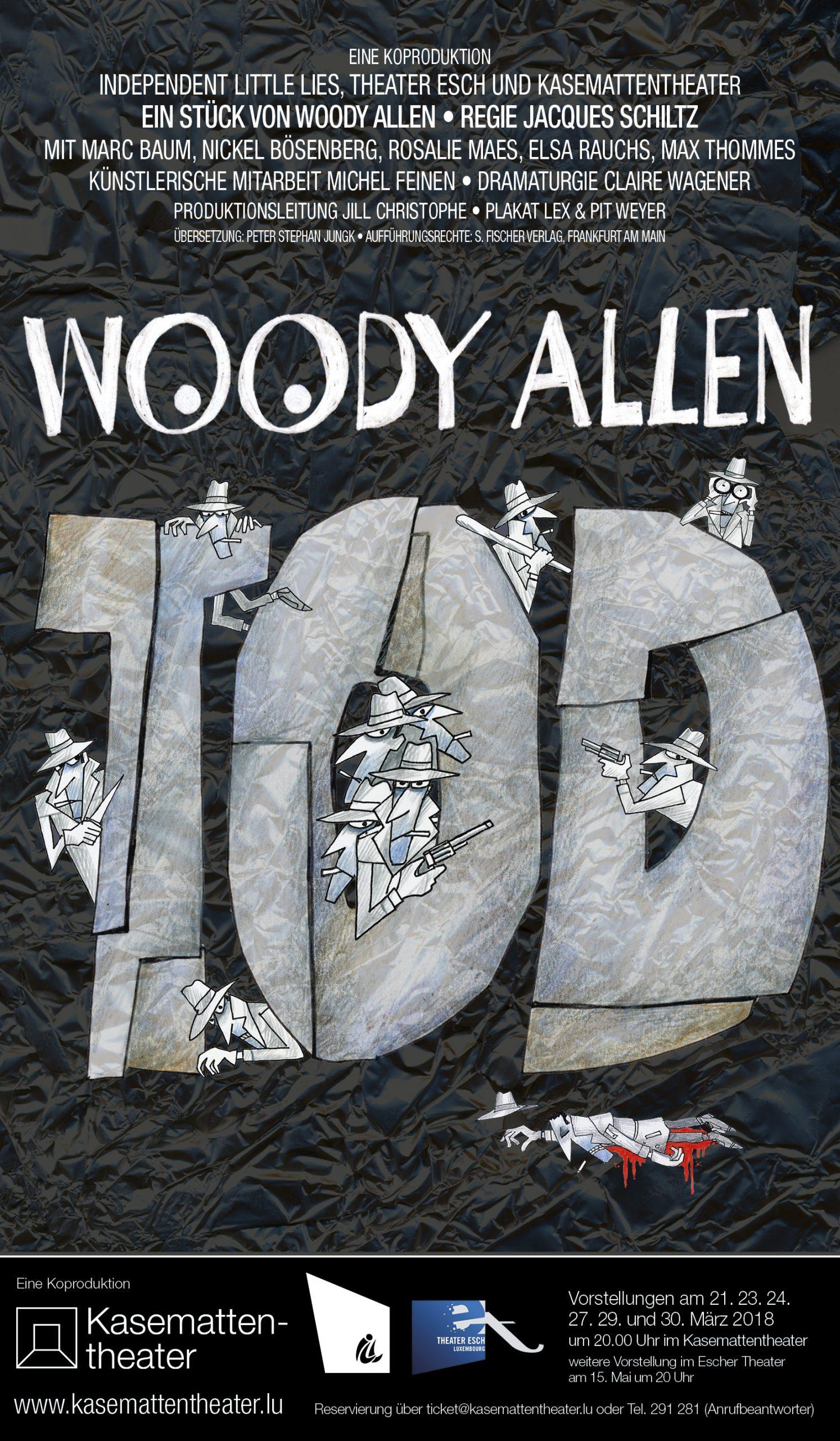 2018 Affiche TOD von Woody Allen Kasemattentheater 2017