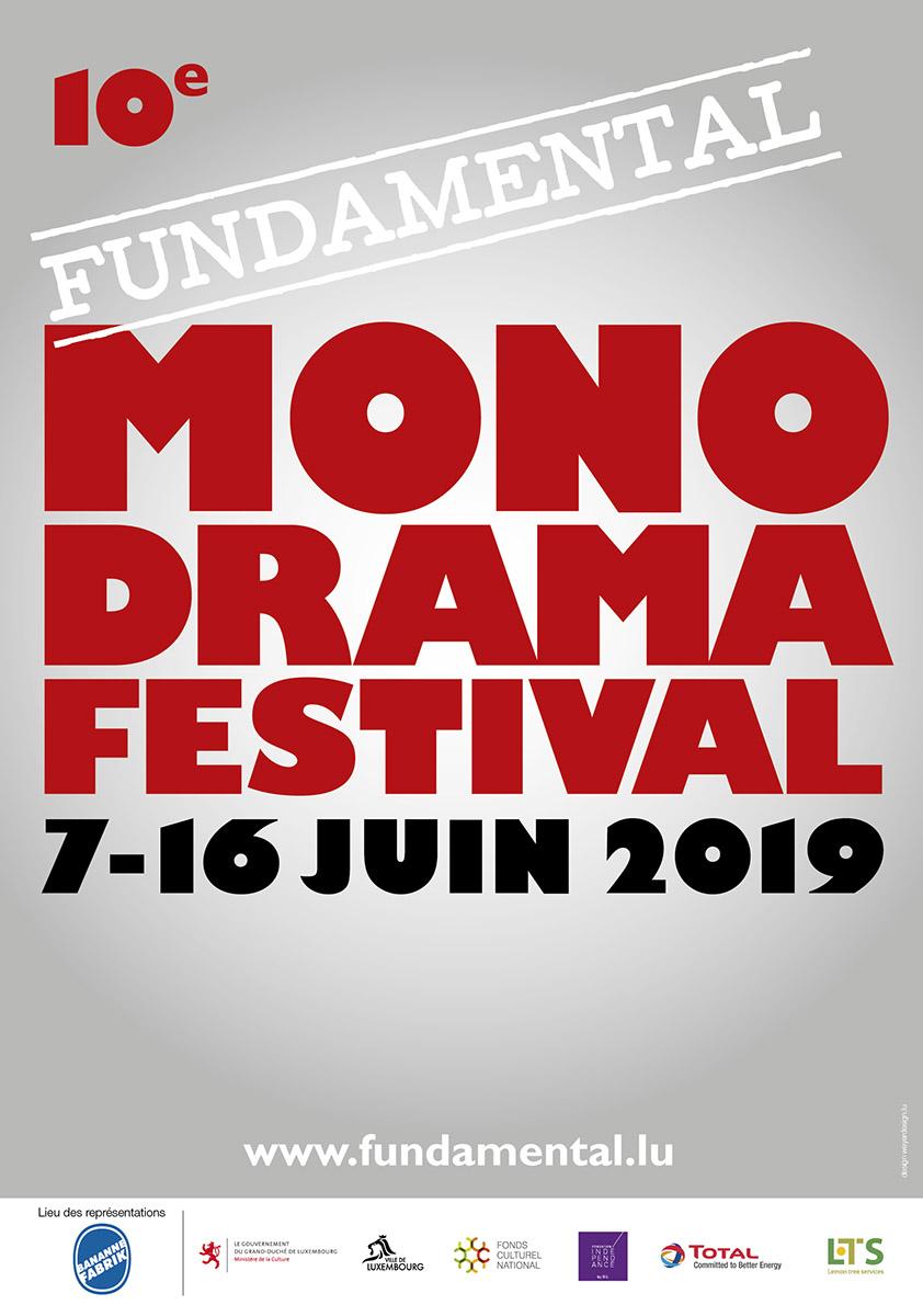 Affisch Fundamental Monodrama Festival 2019