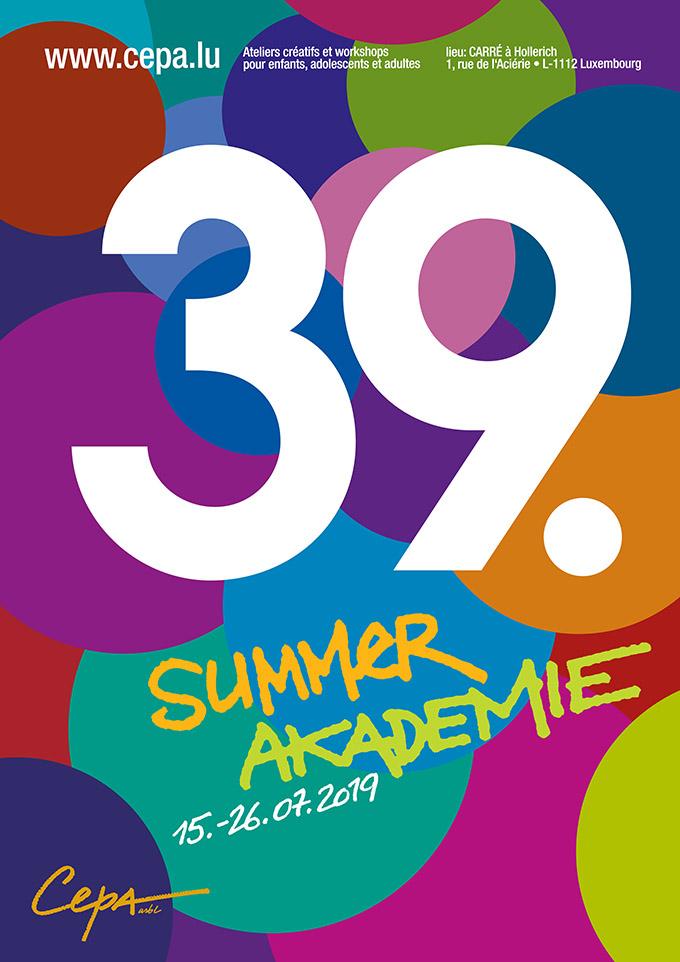2019 Affiche Summerakademie CEPA asbl Luxemburg
